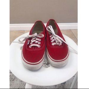 Vans Shoes - Red Vans